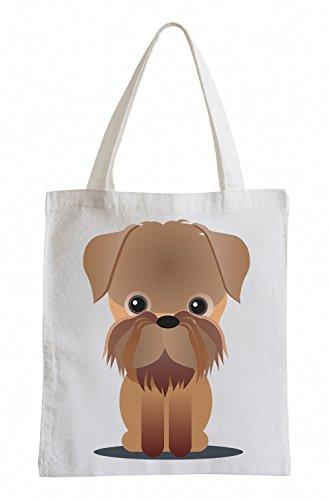 Raxxpurl Schnauzer Dog Fun sacchetto di iuta