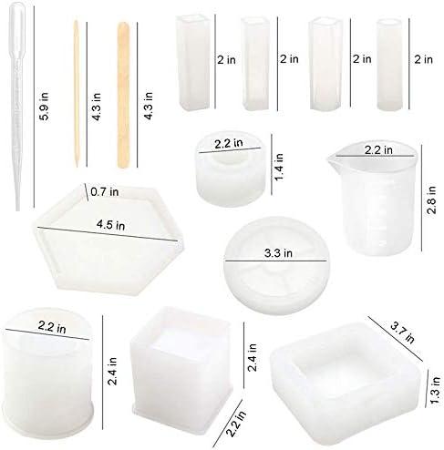 Luluspace Moule en r/ésine et silicone en forme de coquillage pour d/écoration de bureau