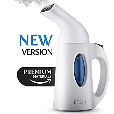 Isteam Steamer [2018] 7-in-1 Powerful Multi Use: Clothes Wrinkle Remover-Clean-Sterilize-Sanitize-Refresh-Treat-Defrost. for Garment/Home/Kitchen/Bathroom/Car/Face/Travel, White