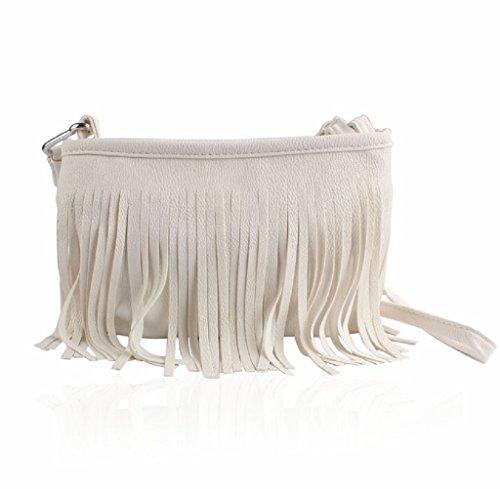 Women girl Bag, Gillberry Hot Tassel Shoulder Messenger Clutch Baguette Handbag (B)