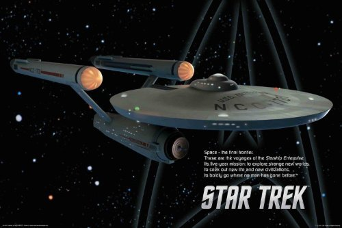 (Buyartforless Star Trek Original Starship Enterprise Original TV Show Poster 36x24)