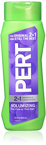 Pert Plus 2-in-1 Shampoo + Conditioner Volumizing, Light, for Fine or Thin Hair, 13.5 Ounce (Pack of 6) by Innovative Brands