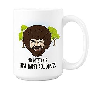 Bob Ross Quote Mug Happy Accidents Motivational Bob Ross Coffee Mugs Happy Trees