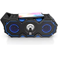 Altec Lansing Super LifeJacket Jolt with Lights, Built in Qi Wireless Charger, Waterproof, Snowproof, Shockproof and it Floats in Water, Up to 30 Hour Battery Life, Blue