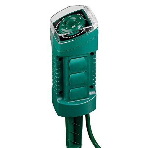 Sylvania 6-outlet Power Stake with Timer and Photocell - Outlet Az