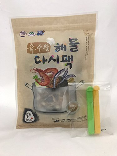 Dried Mix Seafood and Anchovy Dashi Pack Made in Korea (16gX 10Tea Bags)
