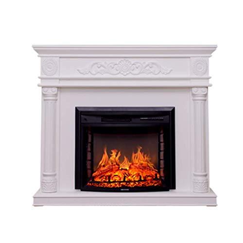 Fireplaces SHUAI- 1400W Electric Kit Smart 3D Dynamic Effects Remote Control Design 14W Viewing Power Roman Column…