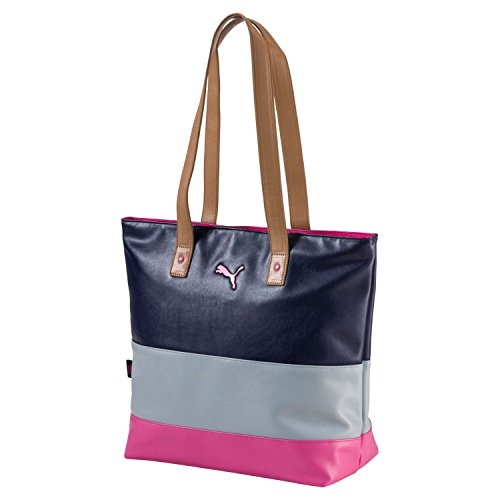 Puma Golf Women's Shock Tote Bag, Peacoat/Quarry, One