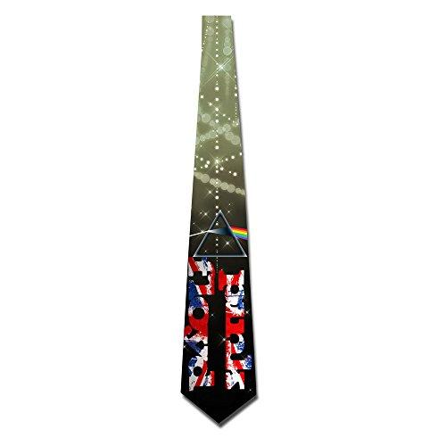 (ONESEDA Men's Pink Floyd Band Logo Tie Necktie Ties)