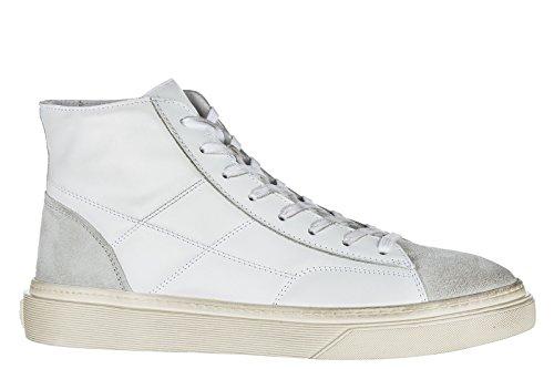 Hogan Scarpe Sneakers Alte Uomo in Pelle Nuove h340 Bianco