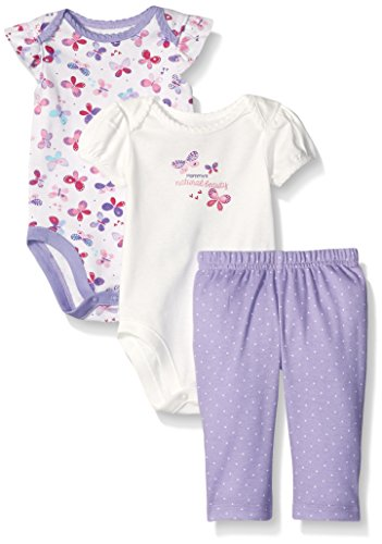 Pale Lavender (The Children's Place Baby Butterfly Playset, Pale Lavender, 0-3 Months)