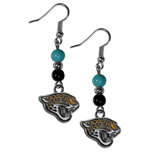 NFL Jacksonville Jaguars Fan Bead Dangle Earrings
