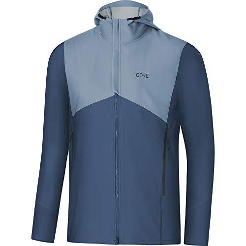 GORE WEAR R3 Men's Hooded Jacket Gore Windstopper, XL, Dark Blue/Light Blue ()