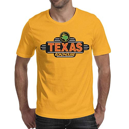 GESISAHU T-Shirt Men's Short Sleeve Graphic T Shirts Texas Roadhouse Logos Outdoor Tee Soft PerfomanceComfy T Shirt (Shirt Roadhouse Texas)