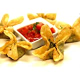 Wing Hing Spinach Artichoke Rangoon - 100 per case.