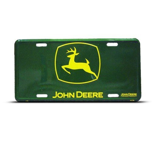 John Deere Plates : John deere metal novelty license plate wall sign tag