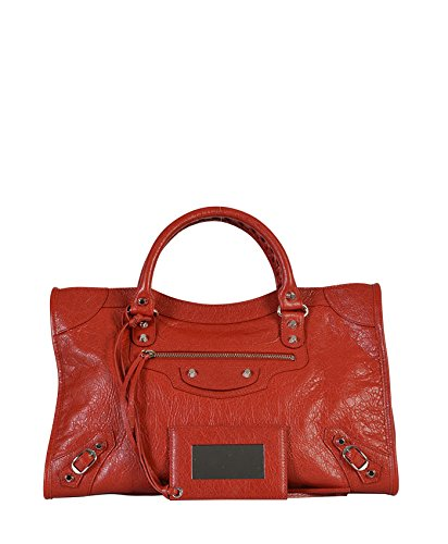 BALENCIAGA WOMEN'S 115748D94JN6267 RED LEATHER HANDBAG