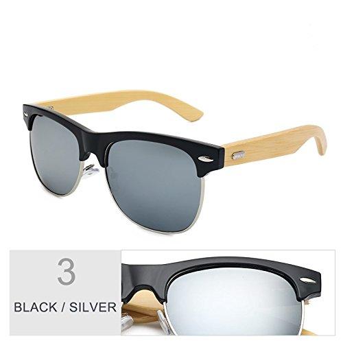 Silver Black Clásico Color Sol De Gafas Negro De Unisex TIANLIANG04 Oro Gafas Mirroring xZRqw7F