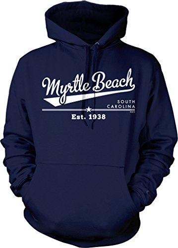 Myrtle Beach, South Carolina, Est. 1938 Hooded Sweatshirt, NOFO Clothing Co. XXL Navy