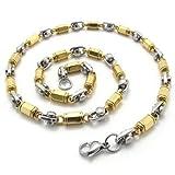 Best KONOV Fashion Jewelry Of 2 Tones - Konov Jewelry 2-Tone Polished Stainless Steel Mens Necklace Review