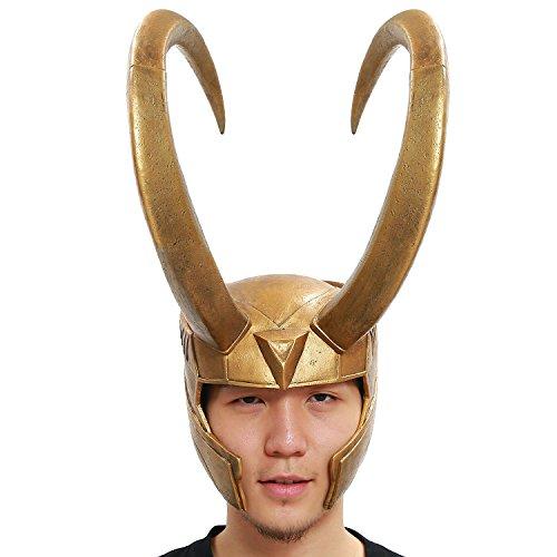 XCOSER Loki Helmet Mask Props for Halloween Costume Classic (Loki Helmet Costume)