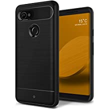Google Pixel 2 XL Case, Caseology [Vault Series] Slim Protective Shock Absorbing TPU Rugged Protection Textured Grip for Google Pixel 2 XL (2017) - Black