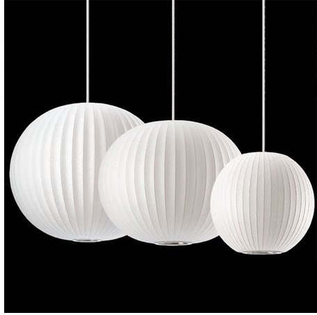 GOWE Silk Chandelier Light E27 Round Suspension Drop Lamp Modern Restaurant Bar Restaurant Chandelier body color:30cm