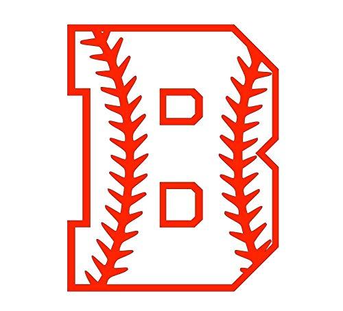 Custom Baseball Softball Monogram Initial Vinyl Decal Sticker for Tumbler Cup Car or Laptop