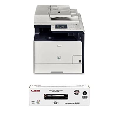 Canon imageCLASS MF726CDW Color Laser Printer BUNDLE w/additional full 131 Black