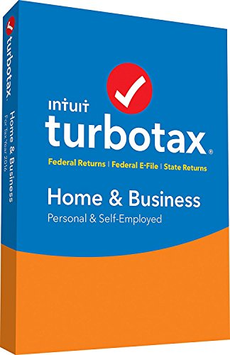 TurboTax Home and Business 2016, [Old Version] PC/Mac, Traditional Disc Office Binder (428967)