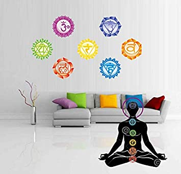 Lvabc Chakras Wallpaper Stickers Mandala Yoga Meditación Símbolo ...