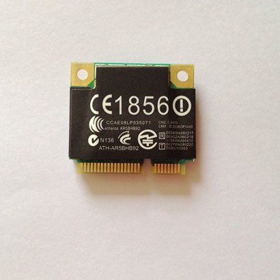 AR9280 AR5BHB92 Half Mini PCI-E Card Dual-band 2.4/5.0GHz 300 Mbps 802.11a/b/g/n Card USE for DELL Toshiba Acer Sony Samsung Asus etc; Compatible MAC OS & ROS & UBNT & LINUX