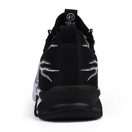Lacets De Baskets Sport 1 Sneakers Chemin Route Homme Chaussures noir Mode Antidérapant 8pw5TT