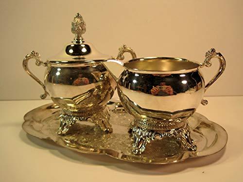 (Sugar and Creamer 4 Piece Set, Silver Plate, Pilgrim)