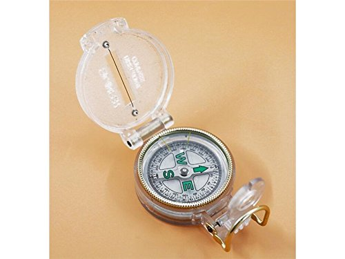 Yuchoi Solid Compass Portable Explore Compass Outdoor Navigation Tools for Mountain Climbing (Transparent Color) by Yuchoi