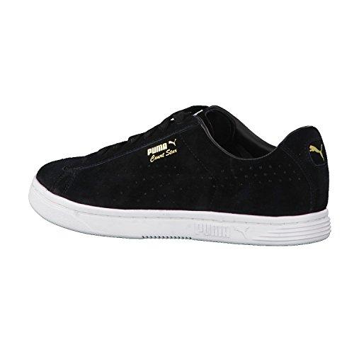 Puma Court Star SD Suede Sneaker Men Trainers black 364581 01 Puma Black-Puma White-Gold
