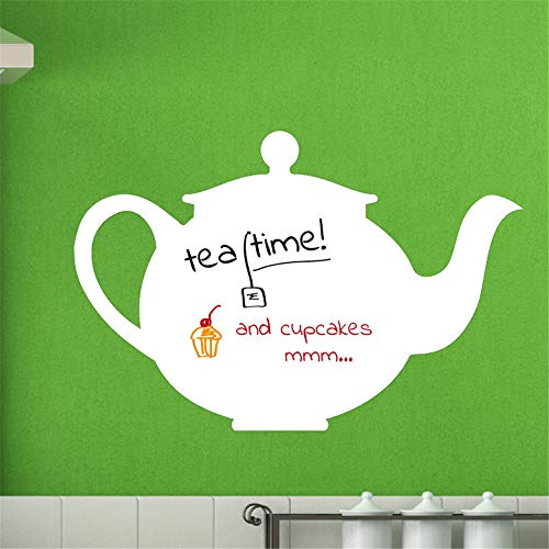 lsenag Vinyl Wall Art Inspirational Quotes and Saying Home Decor Decal Sticker Whiteboards Teapot for Nursery Kids Room Living Room Bedroom Office