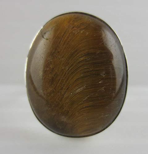 - Sterling Silver Tiger's Eye Gemstone Ring 925 Size 8 1/2