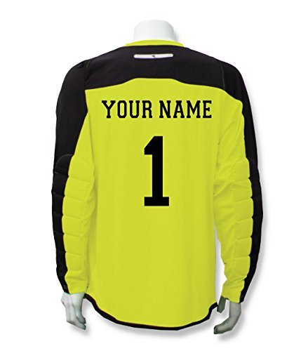 Diadora Enzo Goalkeeper Jersey Personalized with Your Name and Number -  Matchwinner Yellow - Size Youth Medium 839af5bae