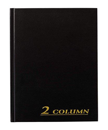 Adams Account Book, 2-Column, Black Cloth Cover, 9.25 x 7 Inches, 80 Pages per Book (ARB8002M) (2 Pack, Black) ()