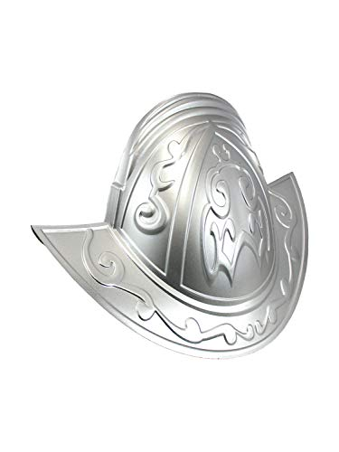 Nicky Bigs Novelties Deluxe Spanish Conquistador Knight Helmet Hat Costume Accessory, Silver, One Size -