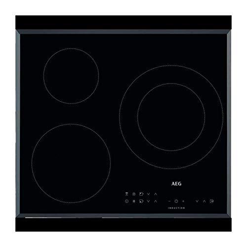 AEG IKB63301FB hobs Negro Integrado Con - Placa (Negro, Integrado, Con placa de inducción, 145 W, Alrededor, 2,5 m)