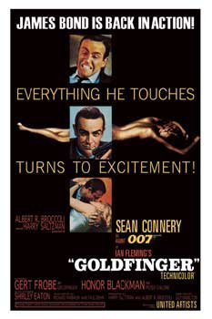 GOLDFINGER MOVIE POSTER James Bond RARE HOT NEW - Goldfinger Movie Poster
