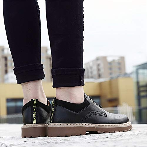 Fashion ZHRUI Nero Wingtip Punta Outdoor Colore 39 EU tonda for Lace Casual suola Men up Shoes Nero Soft Dimensione Derby SSqEgA