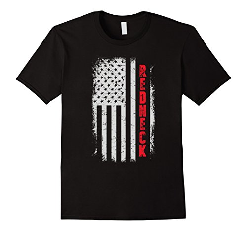 Mens Redneck American Flag T-shirt Large Black