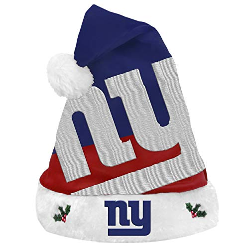 FOCO NFL New York Giants 2018 Basic Santa Hat, Team Color, One Size