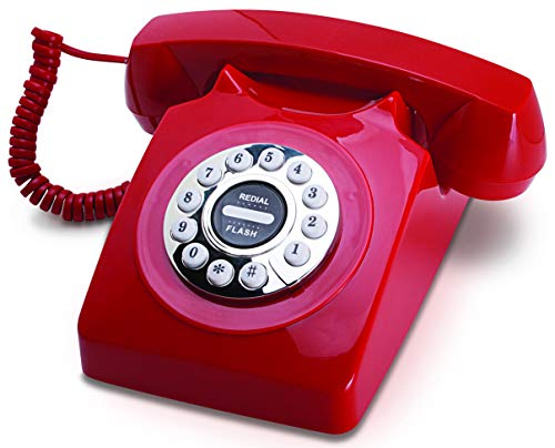 Vintage Telephone - Retro Style ONLY for Landlines Telephone Classic Home Phone with Rotary Style Push Button Numbers - Fully Functional]()