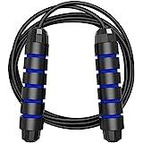 MyDear Cuerda para Saltar, Fácilmente Ajustable Manijas Cómodas, 300CM Cable, Rodamientos de Bolas de Acero Ergonómico y Mang