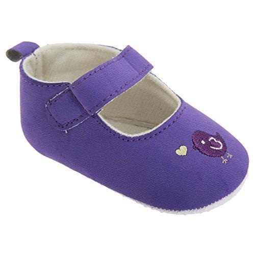 Baby Mädchen Schuhe / Mary-Jane-Schuhe mit Vogeldesign Pink