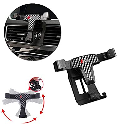 GTINTHEBOX Smartphone Cell Phone Mount Holder with Adjustable Air Vent Clip Cover for 2012 2013 2014 2015 2016 2020 2020 Audi Q5 (3.5-6.0 Inches Phone)